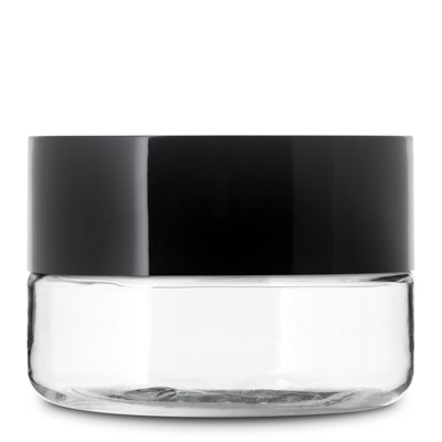 66MM LOW PROFILE CHILD RESISTANT PET JARS - CLEAR