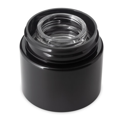 DOUBLE SHELL CONCENTRATE JAR - BLACK -   (PATENT PENDING)