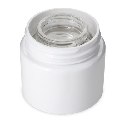 DOUBLE SHELL CONCENTRATE JAR - WHITE - (PATENT PENDING)