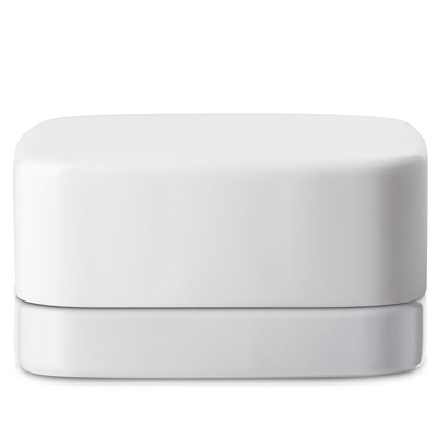 SQUARE THICK WALL CONCENTRATE JARS - WHITE MATTE