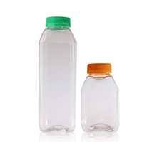 JUICE BOTTLES - SQUARE PET BOTTLES