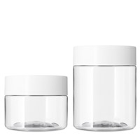STRAIGHT SIDED PET CHILD RESISTANT JARS AIRTIGHT CLEAR BOTTLES