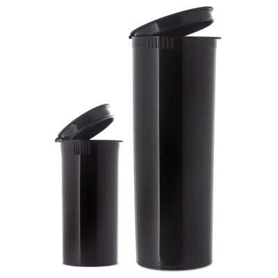 POP TOP VIALS - OPAQUE - BLACK - USA