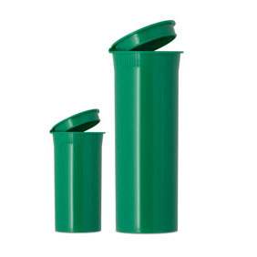 POP TOP VIALS - OPAQUE GREEN - USA