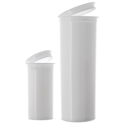 POP TOP VIALS - OPAQUE  WHITE - USA BOTTLES