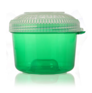 Bowlz - Opaque Green with Child Resistant Closures BOTTLES