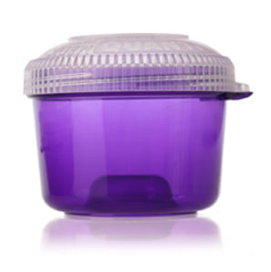 Bowlz - Opaque Purple with Child Resistant Lids BOTTLES