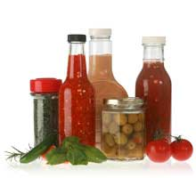 Glass Bottles, Glass Jars, Spice Jars, BBQ Sauce Bottles, Salad Dressing Bottles, <br>Plastic Bottles, Plastic Jars for Food