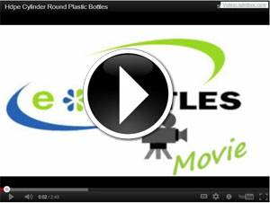 CYLINDER ROUND PLASTIC BOTTLES - HDPE video